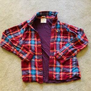 Men's Abercrombie muscle flannel